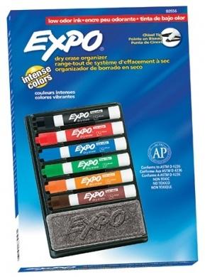 אורגנייזר סט 6 טושים למחק ללוח מחיק Expo