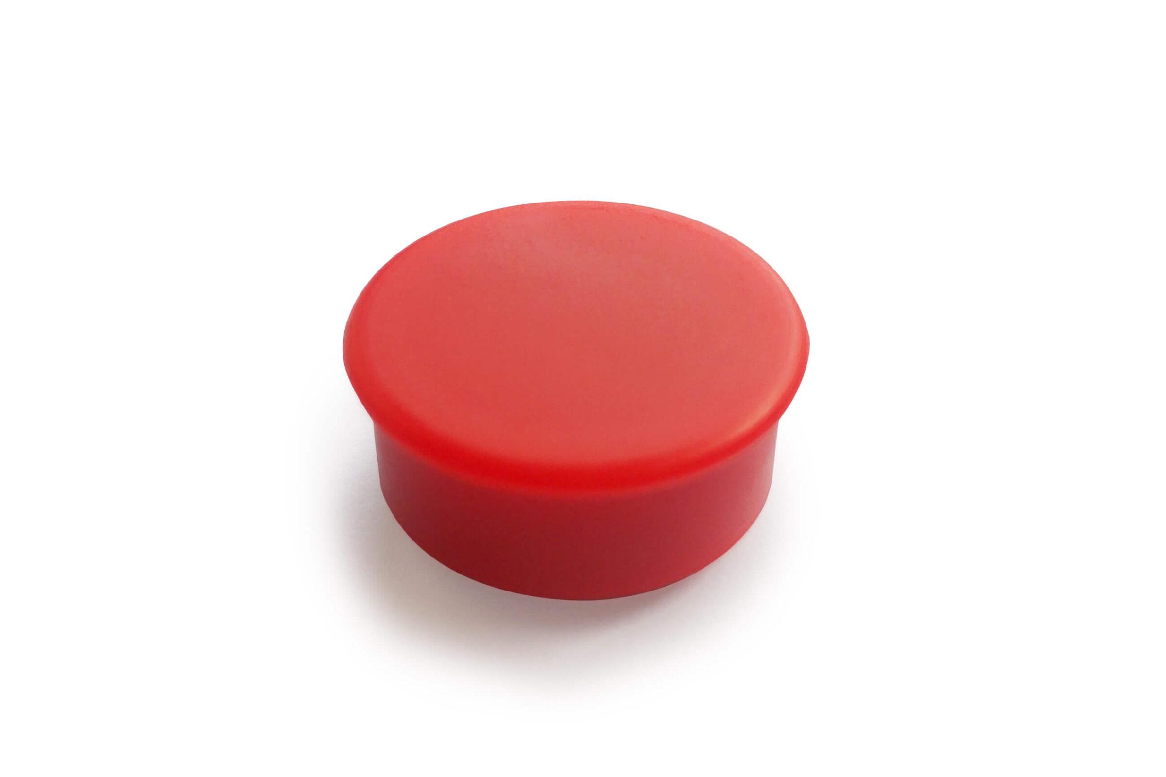 מגנט פלסטיק אדום ללוח מחיק