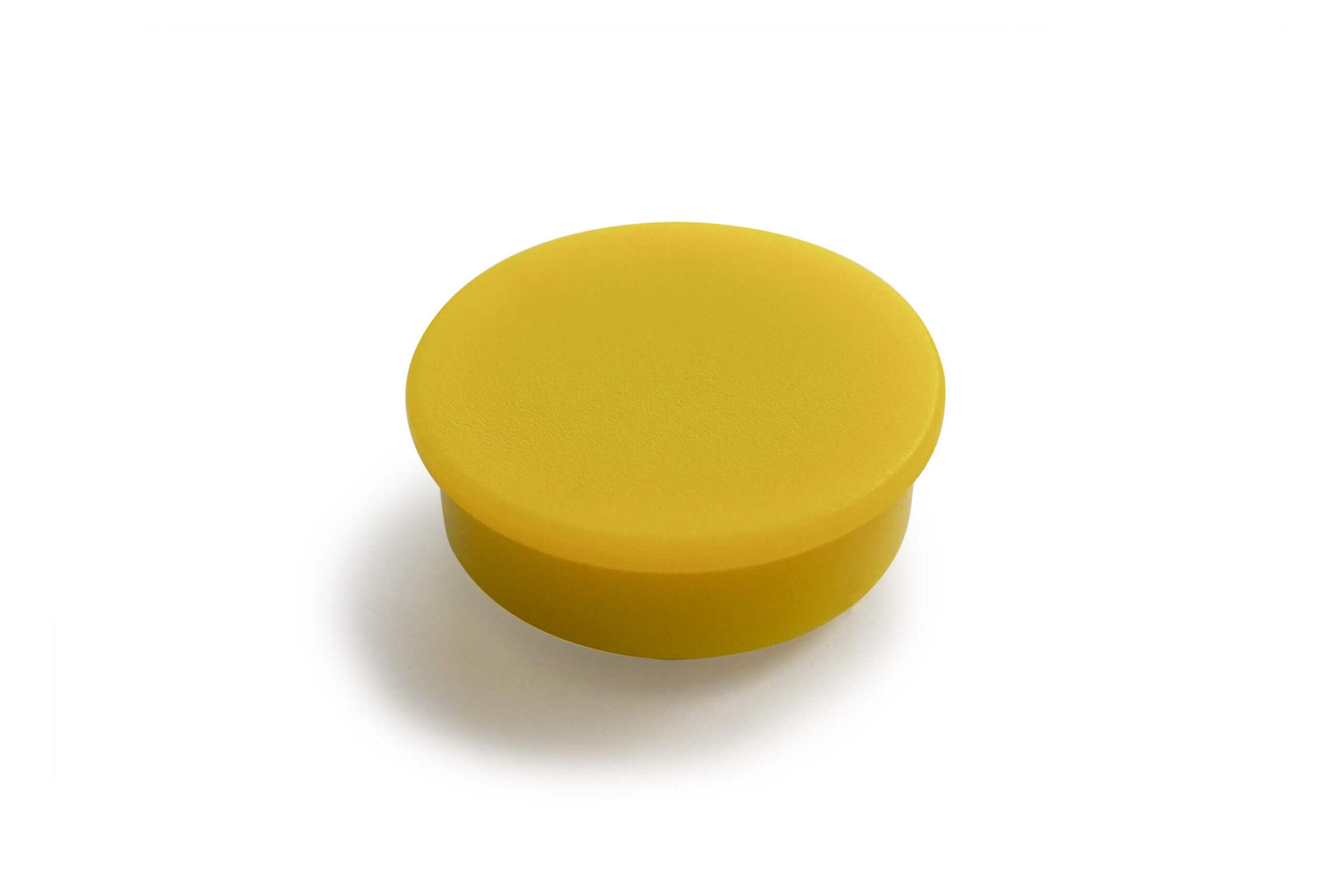 מגנט פלסטיק צהוב ללוח מחיק