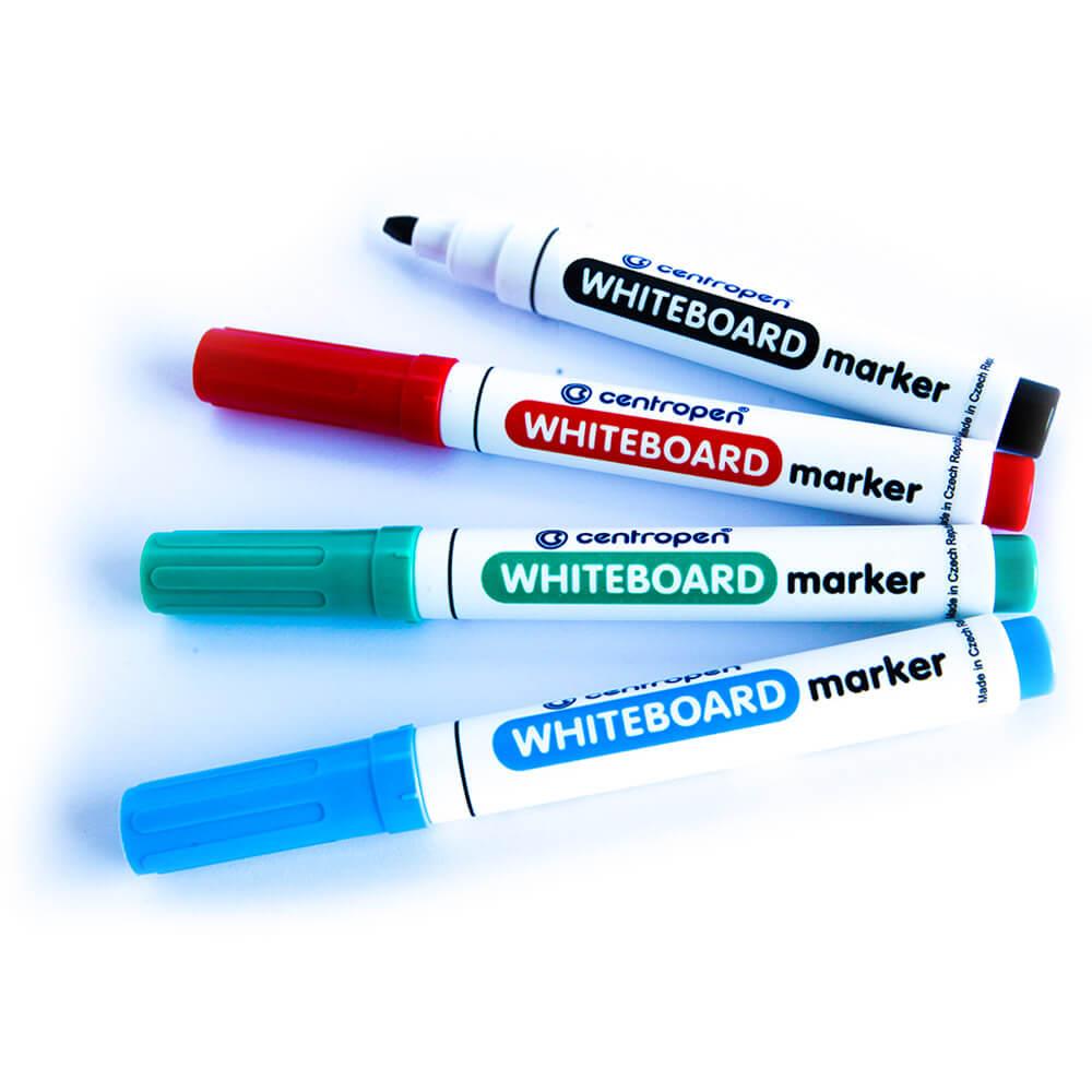 4 טושים מחיקים centropen שחור כחול אדום ירוק