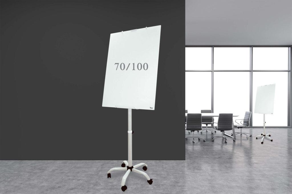 לוח מחיק נייד זכוכית מגנטי פליפצ'ארט Bclear