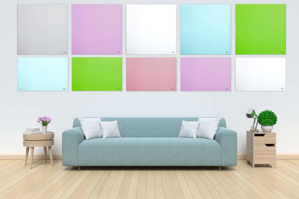 לוחות זכוכית מחיקים צבעוניים קטנים Bclear