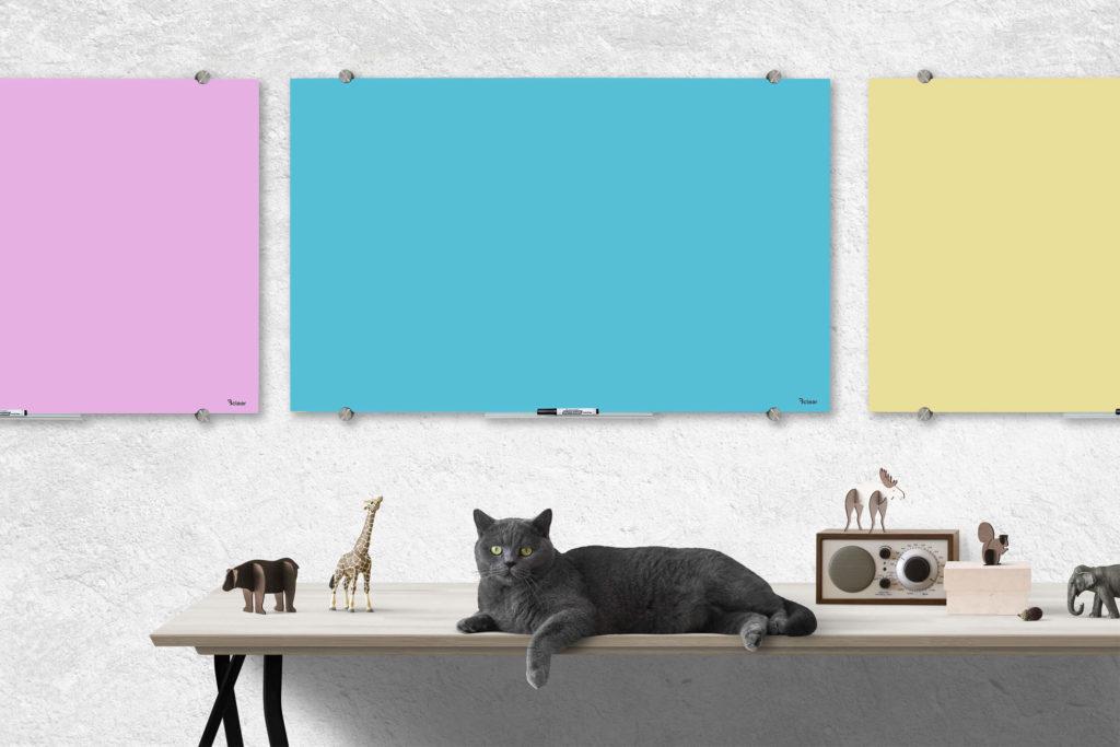 לוח זכוכית מחיק צבעוני ביקליר Bclear
