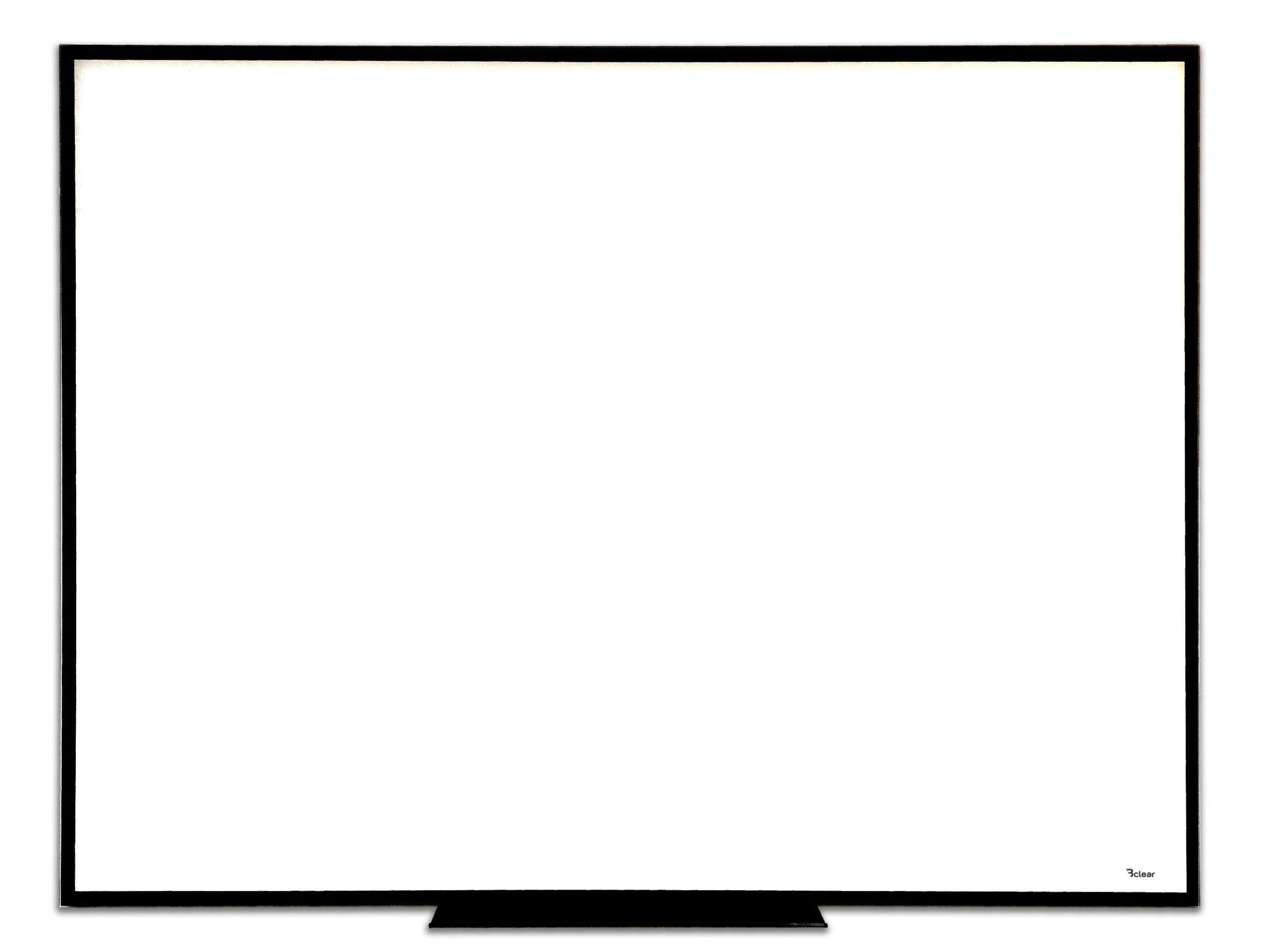 לוח זכוכית מחיק עם מסגרת שחורה, Bclear