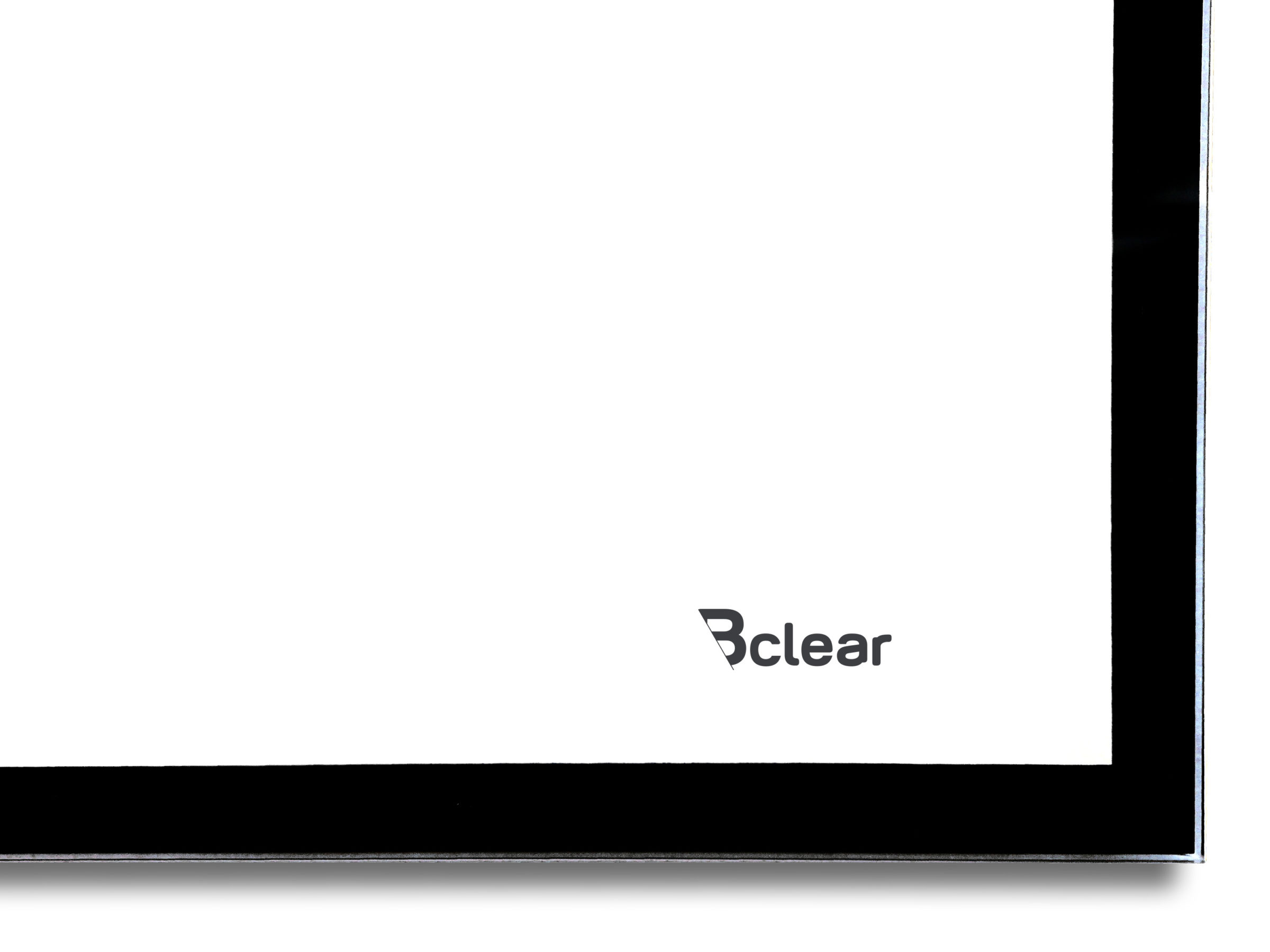לוח זכוכית מחיק עם מסגרת שחורה, תקריב, Bclear