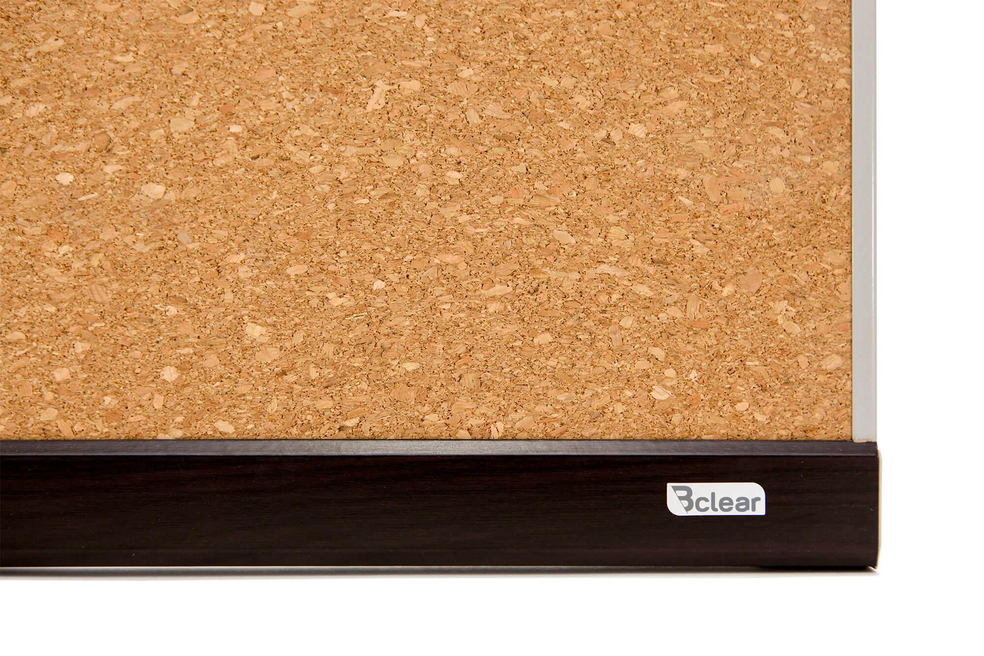 לוח שעם מסגרת עץ נעיצה Bclear תקריב