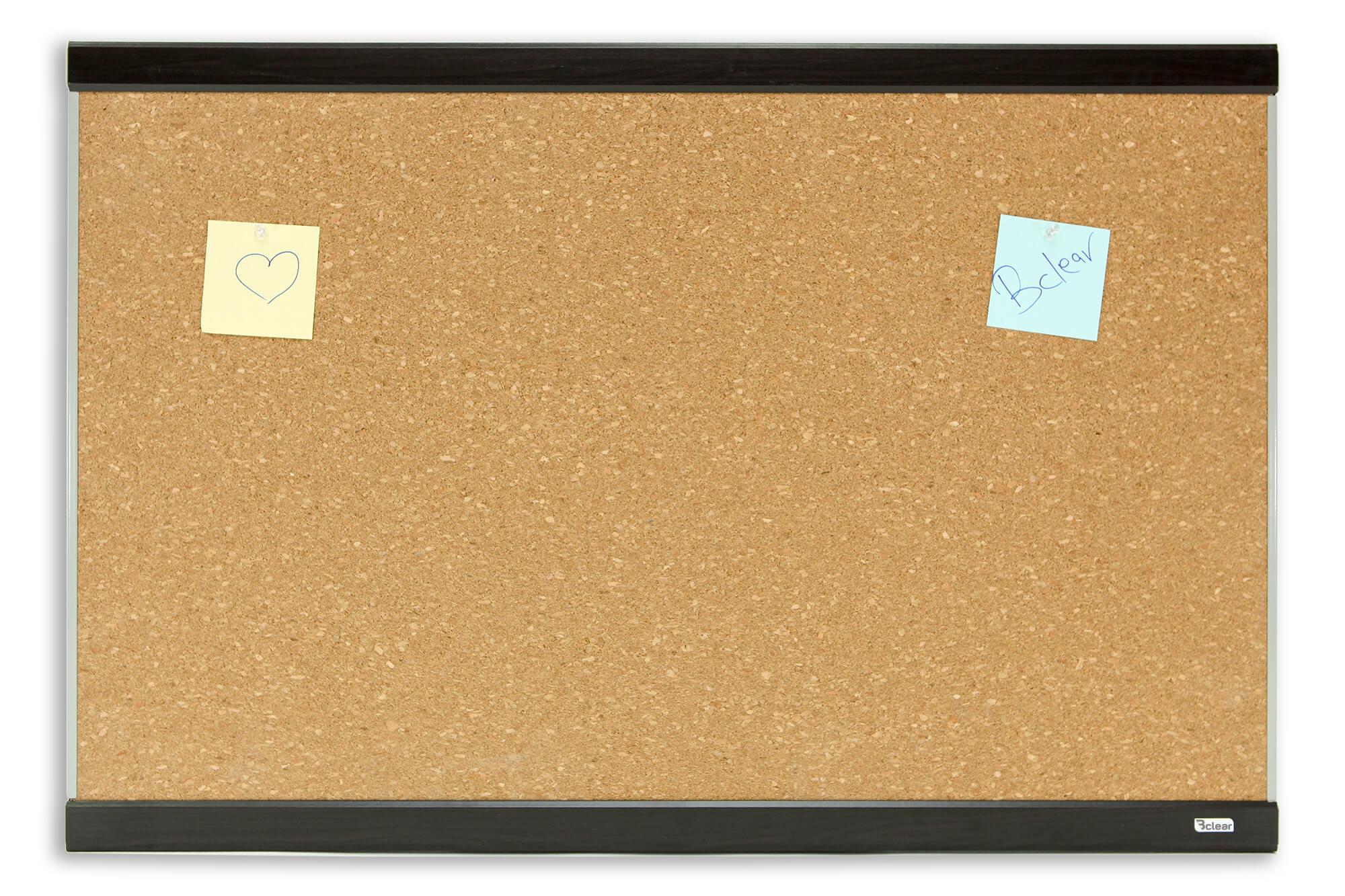 לוח שעם מסגרת עץ נעיצה Bclear